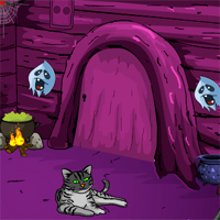 Free online flash games - Games4Escape Halloween Mysterious Door Escape