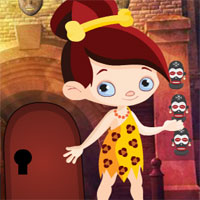 Free online flash games - Games4King Stone Age Girl Rescue