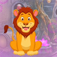 Free online flash games - Games4King Awe Lion Escape