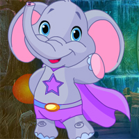 Free online flash games - Games4king Superhero Elephant Rescue