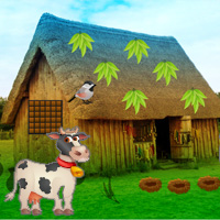 Games2rule Trapped Cow Village Escape