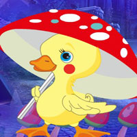 Free online flash games - G4K Yellow Duckling Escape