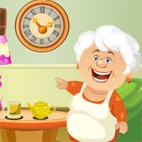 Cute Grandma Rescue Games4King
