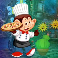 Free online flash games - Games4King Monkey Pizza Chef Escape game - WowEscape