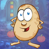 Free online flash games - Games4King Cartoon Potato Escape