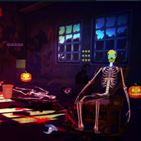 Free online flash games - Halloween Zombie House Escape Top10NewGames