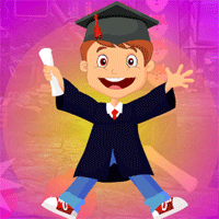 Free online flash games - Games4king Happy Graduated Boy Escape game - WowEscape