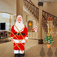 Free online flash games - Christmas House Santa Rescue