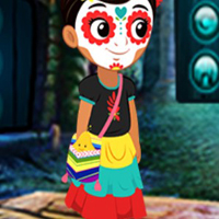 Free online flash games - G4K Lovable Halloween Girl Escape