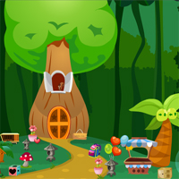 Free online flash games - Games4King Girl Rescue From Tree House game - WowEscape