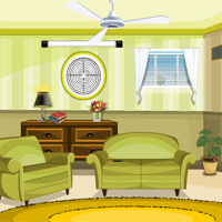 Free online flash games - Green Sitting Room Escape game - WowEscape