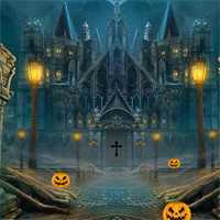 Free online flash games - 8bGames Halloween Abandoned Palace Escape