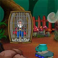 Free online flash games - G2J Old Man Warrior Escape