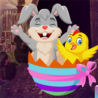 Free online flash games - Games4King Bunny And Chick Escape game - WowEscape