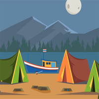 Free online flash games - KidsJollyTv Escape from Tent Boat