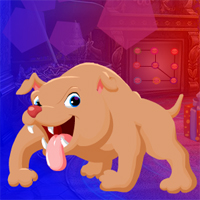 Free online flash games - Games4King Angry Bull Dog Escape