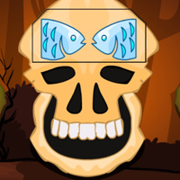 Free online html5 games - G2M Brown Skull Forest Escape game