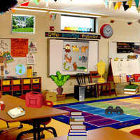 Free online flash games - Messy Classroom Hidden Objects game - WowEscape