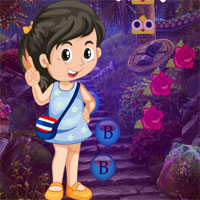 Free online flash games - Games4king Forest Analyze Girl Rescue