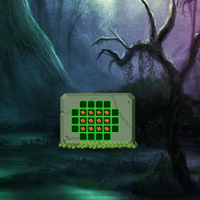 Free online html5 games - Dark Green Fantasy Forest Escape game