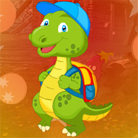 Free online flash games - Games4King Dinosaur Escape With Backpack