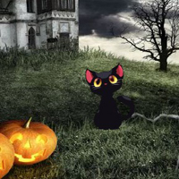 Free online flash games - Halloween Cemetery Castle Escape game - WowEscape