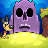 Free online html5 games - G2M Witch Dog Escape game