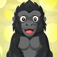 Free online flash games - Games4King Baby Gorilla Escape
