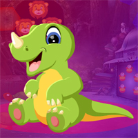 Free online flash games - Games4King Horned Dinosaur Escape