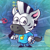 Free online flash games - Games4King Moderate Zebra Escape game - WowEscape