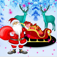 Free online flash games - Games2rule Find The Christmas Chariot game - WowEscape