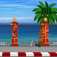 Free online flash games - G2J Beach Road Bike Escape