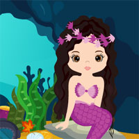 Free online flash games - G4K Mermaid Girl Rescue game - WowEscape