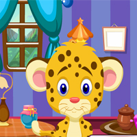 Free online flash games - G4K Funny Leopard Cub Rescue