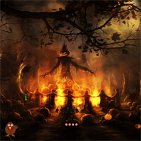 Free online flash games - Top10NewGames Thanksgiving Dark Forest Escape game - WowEscape
