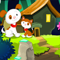 MirchiGames Fantasy Forest Cat Escape