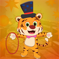 Free online flash games - Games4King Joyous Circus Tiger Escape game - WowEscape