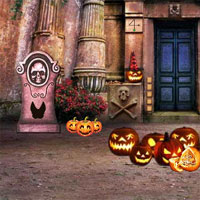 Free online flash games - Mirchi The Big Cemetery Halloween Escape