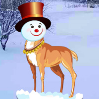 Free online flash games - Snow Head Reindeer Forest game - WowEscape