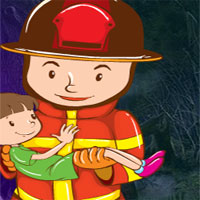 Free online flash games - G4k Fireman Rescue Baby game - WowEscape