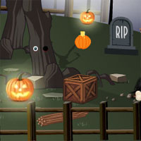 Free online flash games - Halloween Escape From Cemetery